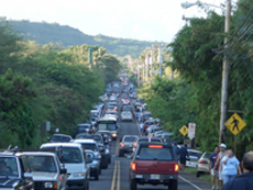 Haleiwa Traffic
